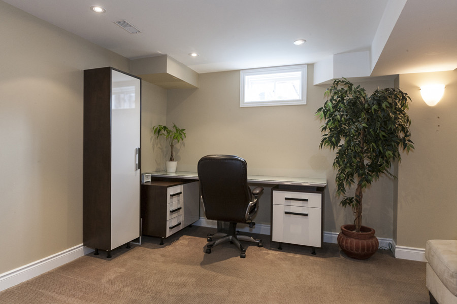 Basement Home Office at 2049 Woodgate Drive, Oakville